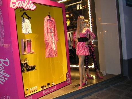 Barbie Store Window at Collete Paris