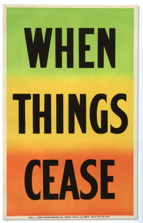 When Things Cease