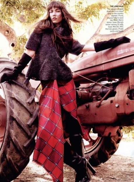 Karlie Kloss and TomStu by  Mario Testino